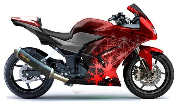 Air brush motor ninja 250cc