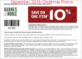 free Barnes and Noble coupons for december 2016