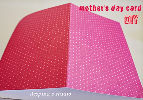DIY mother's day card step 1