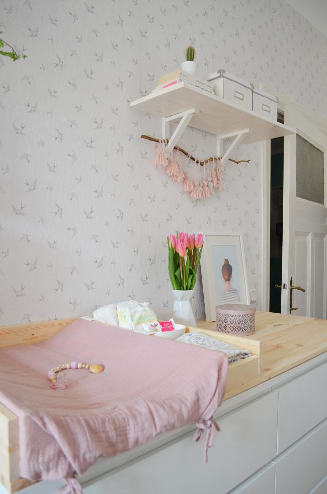 make it boho frida s babyzimmer diy wickelauflage. Black Bedroom Furniture Sets. Home Design Ideas