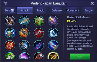 Build Item Saber Mobile Legends Tersakit dan Terbaru 2019