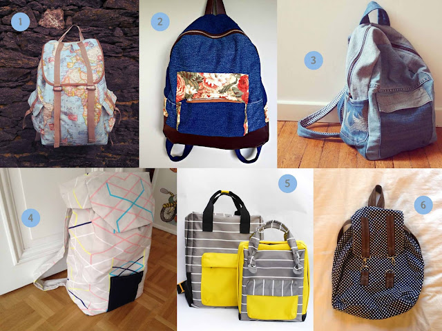 inspirations pour coudre un sac à dos