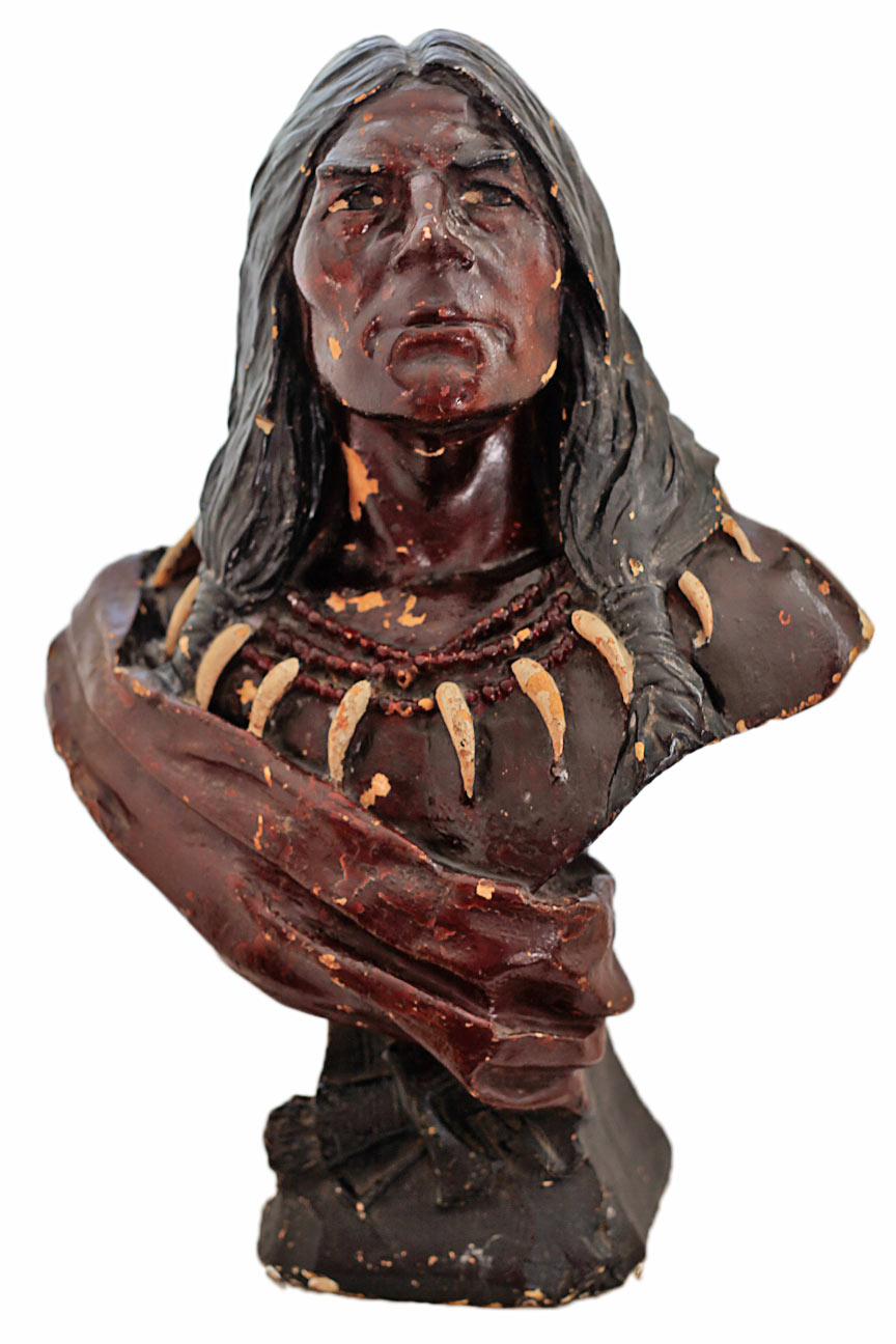 Antique Plaster Cigar Store Indian Sold