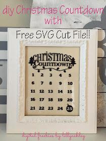 Free SVG Christmas Countdown