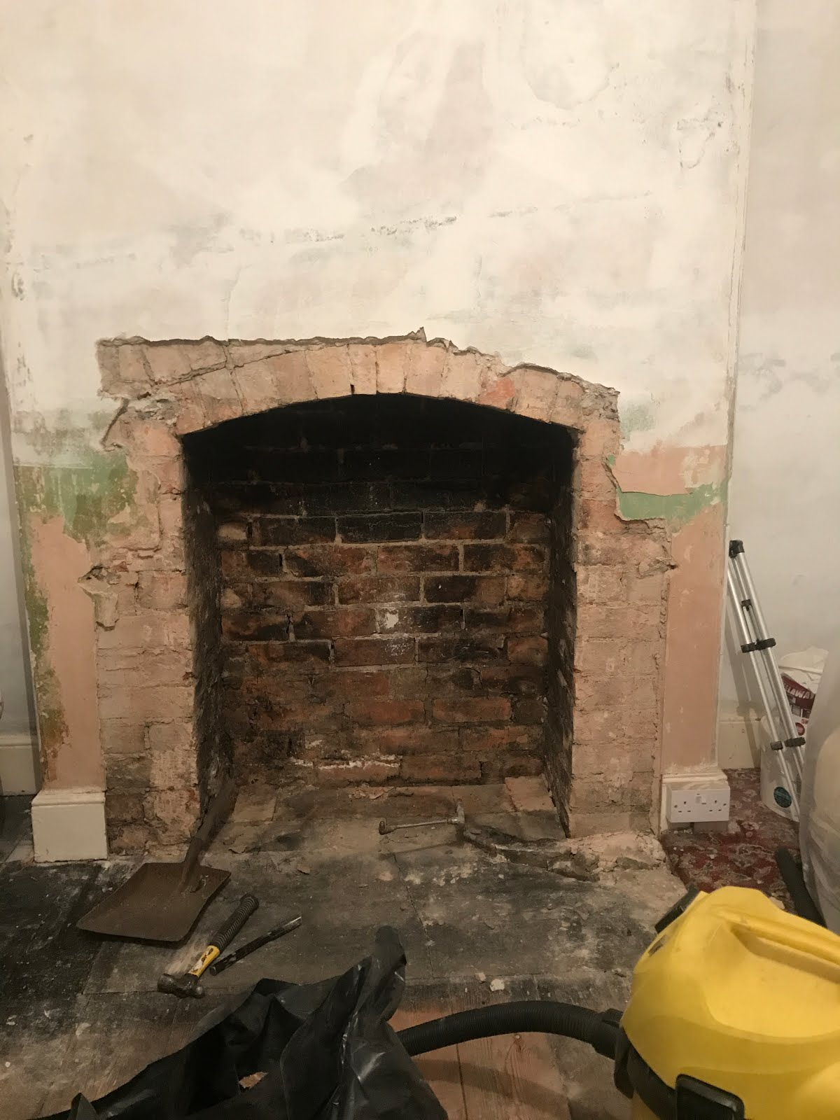 opening up a victorian chimney