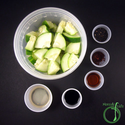 Morsels of Life - Sweet and Tangy Cucumber Salad Step 1 - Gather all materials.