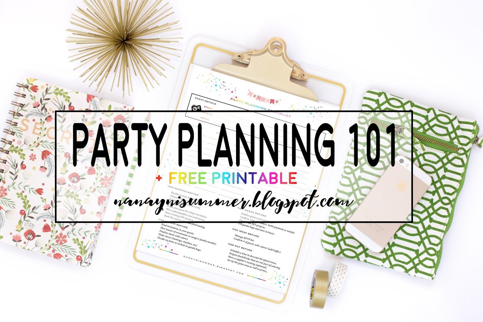 Here S The Party Planning Checklist That I Created Please Feel Free To And Use It Plan Your Parties In Future As Well
