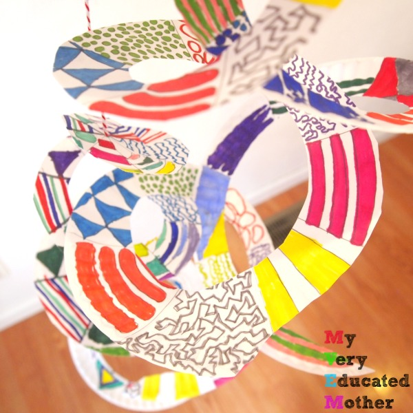 Get Inspired Paper Plate Spiral Art
