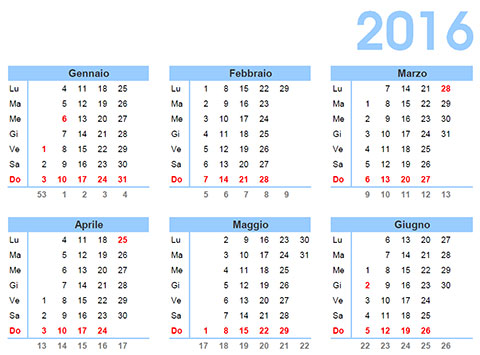 Calendario Appunti Da Stampare.10 Calendari Annuali 2016 Da Stampare