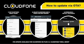 Cloudfone Thrill Boost and Ice Plus 2 gets Over the Air Firmware Update