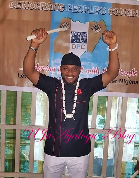 Wild Jubilation as Nollywood Actor, Yul Edochie Picks Anambra Governorship Nomination Form (Photos)