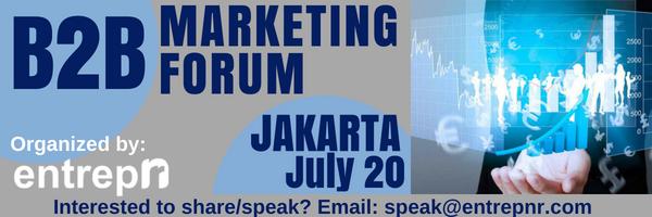 Ikuti Strategi B2B terbaru dalam B2B Marketing Forum 20 Juli 2018