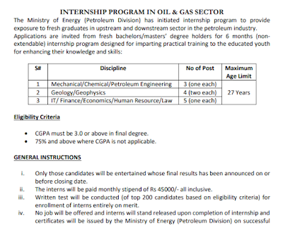 Ministry of Energy Internship 2019 For 6 Months | Rs 45,000 Monthly Stipend