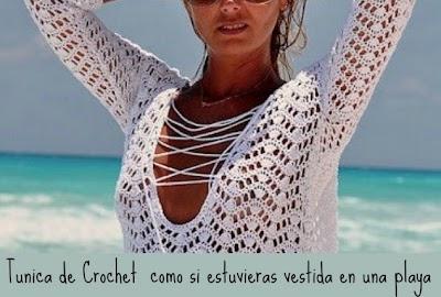 Túnica Reina de crochet para ir a la Playa