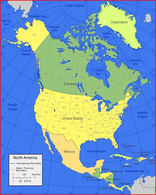 image: Map of North America