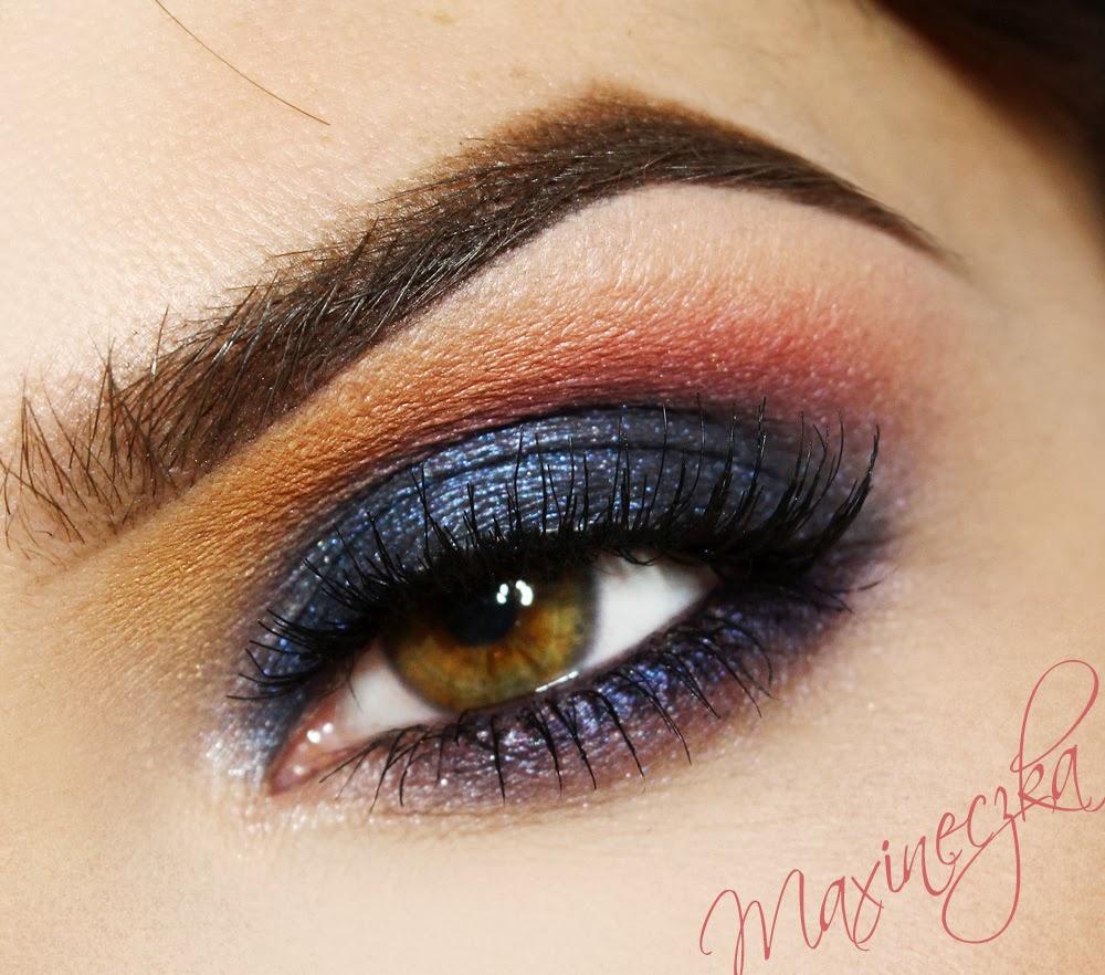 Maxineczka Na Bis All Night Blue Makijaż Dla Brązowych I