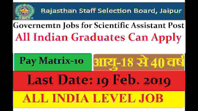Govt Jobs in Rajasthan 2019