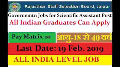 Govt Jobs in Rajasthan 2019