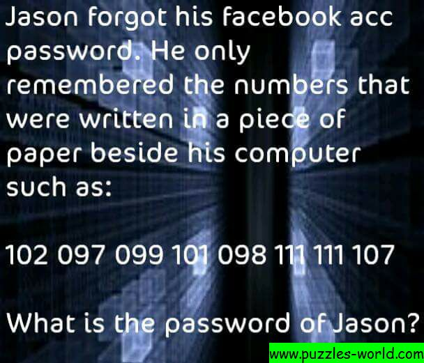 What is the password of Jason?