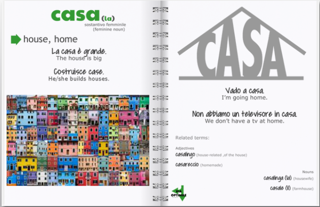 N006 CASA definition & examples notebook preview, http://www.viaoptimae.com/2014/04/the-most-used-nouns-no-006-casa.html