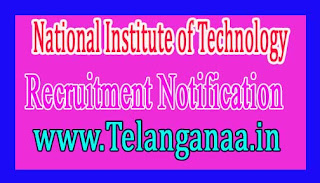 National Institute of Technology – NIT Calicut Recruitment Notification 2017
