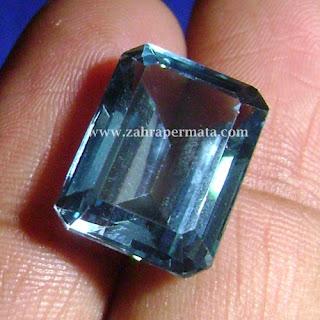 Batu Permata Blue Topaz + Memo - ZP 437