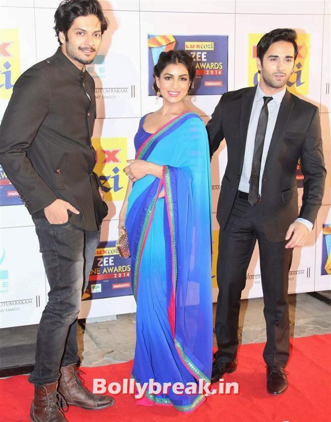 Ali Fazal and Pulkit Samrat, Zee Cine Awards 2014 Red Carpet Pics