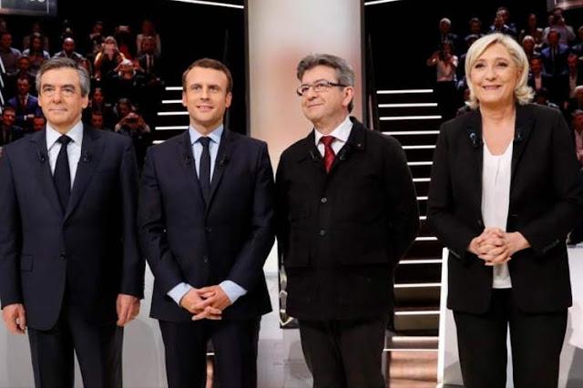 Disminuye brecha entre cuatro candidatos favoritos en Francia