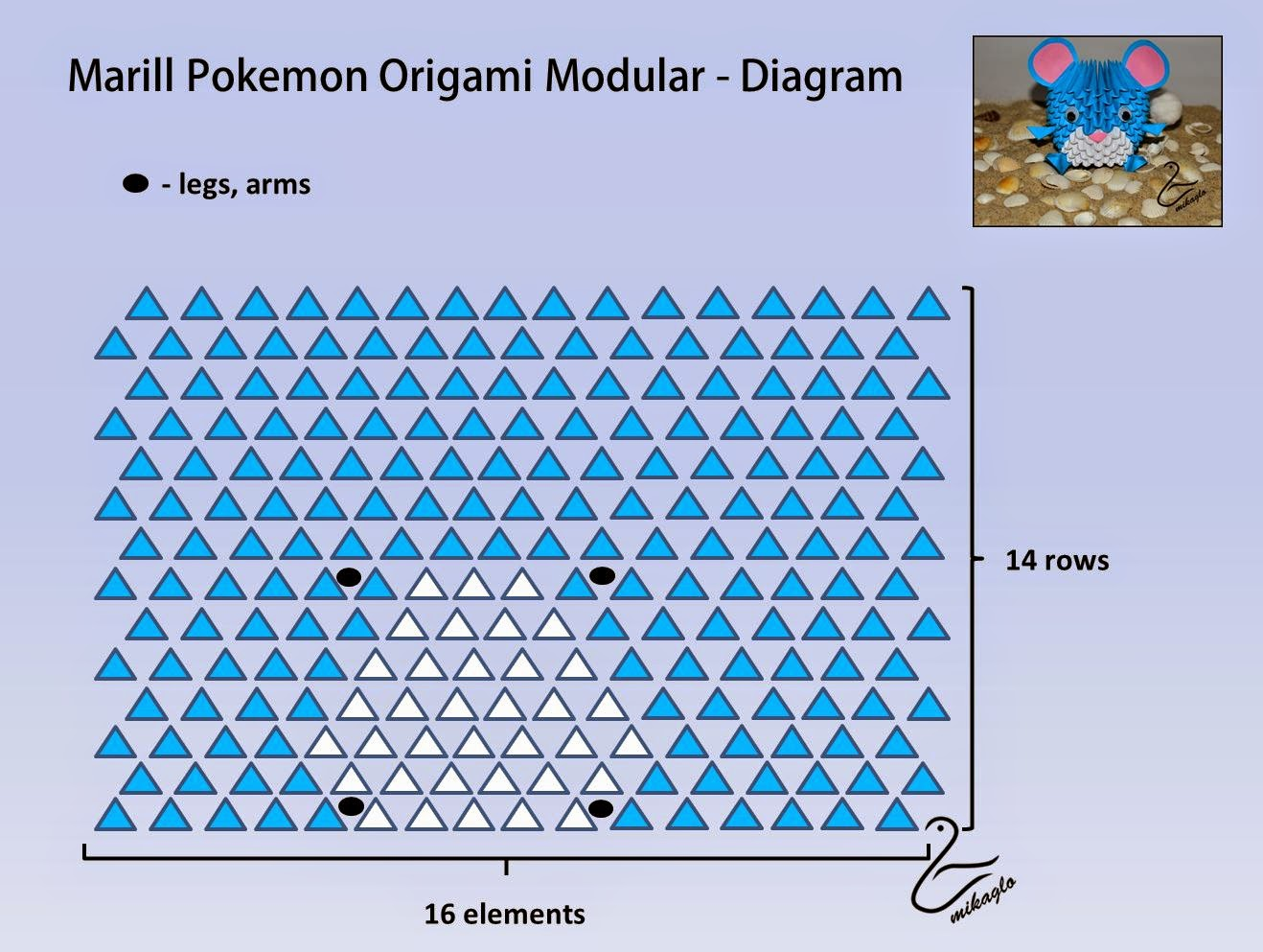 Origami Pokemon Diagram Automotive Wiring Diagrams Explained 3d Mikaglo 31 Marill Z Krok Po
