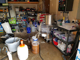 Run-off from Blane's electric brewing system
