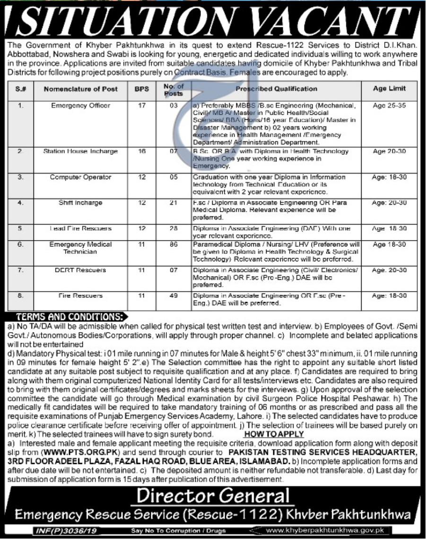 Rescue-1122-KPK-Jobs-2019-Khyber-Pakhtunkhwa-PTS-Shakirjobs