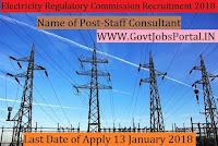 Delhi Electricity Regulatory Commission Recruitment 2018- Staff Consultant