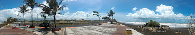 Arena pacuan kuda PON XIX di dekat Pantai Madasari.