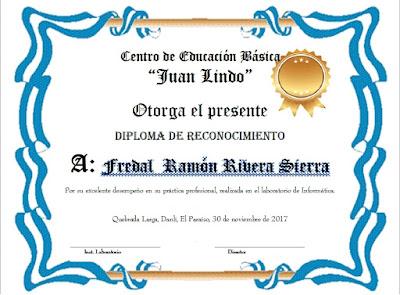 diploma de reconocimiento formato imprimible, diploma de reconocimiento con orillas azules, imagenes de diplomas de reconocimeinto
