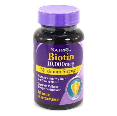 Natrol Biotin 10.000mcg Supplement Perangsang Pertumbuhan Kuku, Rambut, Alis, Bulu, Kumis dan Brewok Aman Tanpa Efek Samping