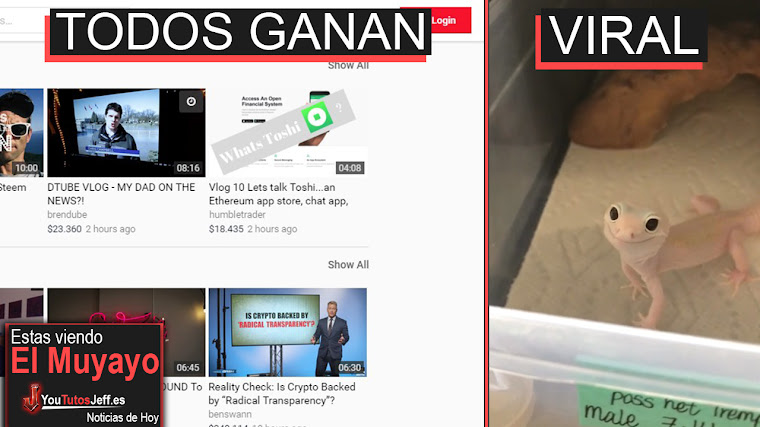 Llega la Alternativa a Youtube Sin Publicidad donde todos Ganan dinero, LG G7, Extraño +   El Muyayo