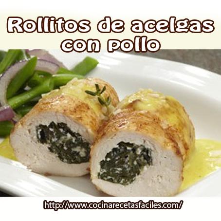 Receta De Rollitos De Acelgas Con Pollo Cocina Recetas Fáciles