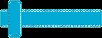 Faixa azul tracejada para blog - Criação Blog PNG-Free
