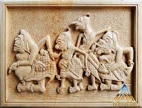 Relief batu alam punokawan