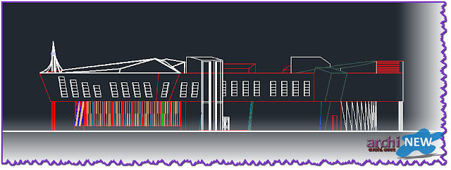 - Vertical projections of the project (sections ) Full file hall sport dwg