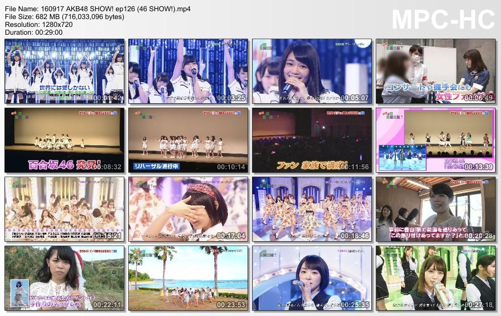 [TV-Variety] AKB48 SHOW! #126 (2016.09.17)