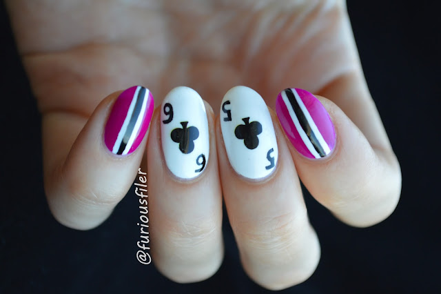 poker nails cards clubs wsop stripes