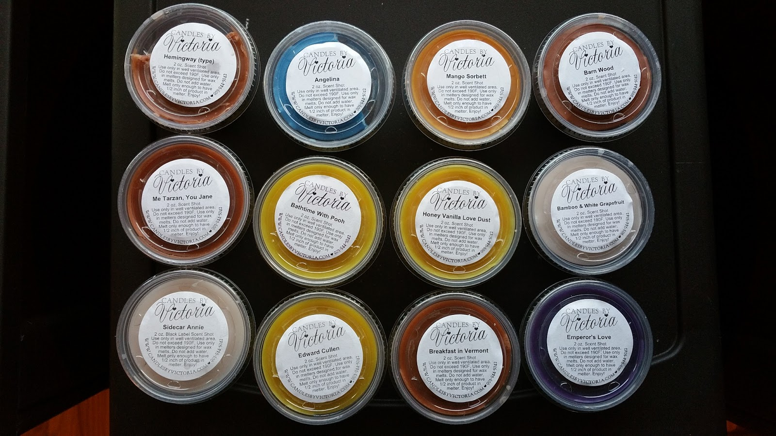 Scented wax melt reviews candles by victoria scented wax for Different brands of candles