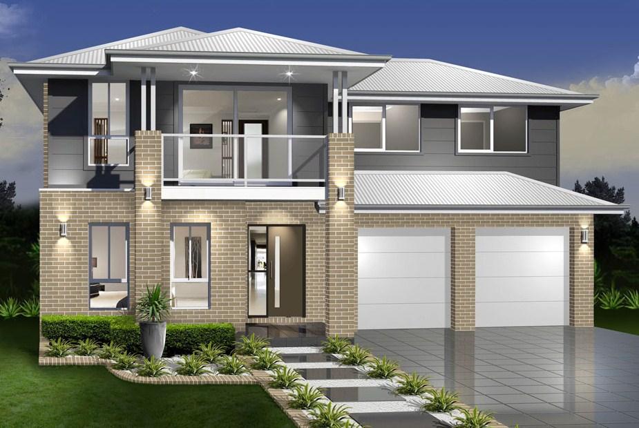 model rumah minimalis 2 lantai tampak depan - model rumah 2 lantai terbaru