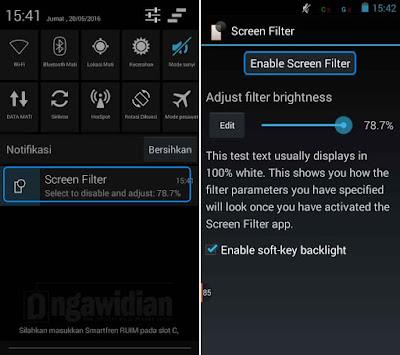 Menghemat Baterai Android Dengan Screen Filter