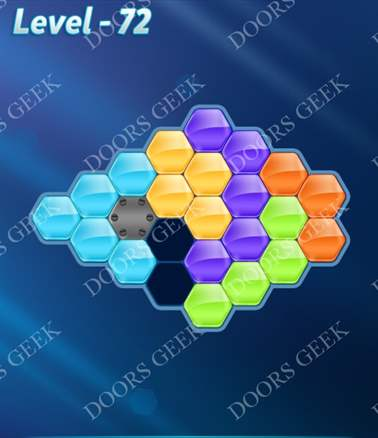 Block! Hexa Puzzle [Intermediate] Level 72 Solution, Cheats, Walkthrough for android, iphone, ipad, ipod