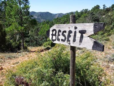 Cartel, madera, Beseit, Beceite, Port de Beseit