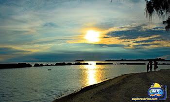 senja di pulau bulat - wisata pulau harapan
