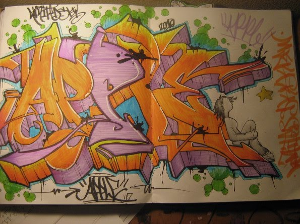 Grafiti New Most Freehand Graffiti Sketches Of Colorful