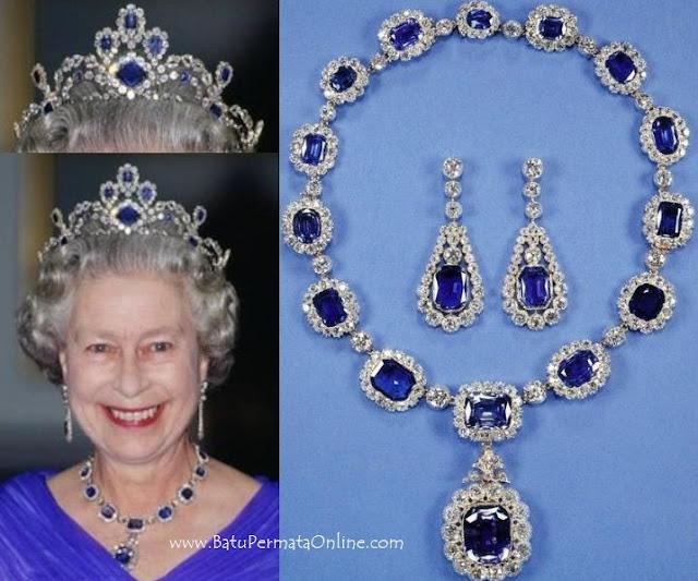 Perhiasan Batu Safir Ratu Inggris